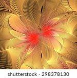 design made of colorful fractal ...   Shutterstock . vector #298378130