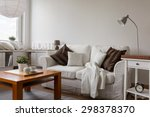 small cozy living room in white ...   Shutterstock . vector #298378370