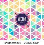 vector watercolor seamless... | Shutterstock .eps vector #298385834