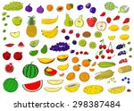 healthy food hand drawn vector... | Shutterstock .eps vector #298387484