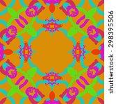 circular seamless pattern of... | Shutterstock .eps vector #298395506