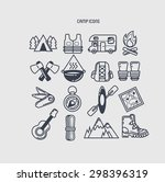 set of camp icons  | Shutterstock .eps vector #298396319