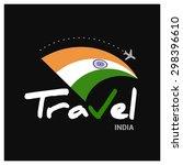 vector travel company logo... | Shutterstock .eps vector #298396610