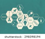 illustration of creative signs... | Shutterstock .eps vector #298398194