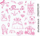 hand drawn vector illustration... | Shutterstock .eps vector #298399199