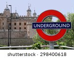 sign underground and towers of... | Shutterstock . vector #298400618
