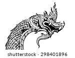 king of nagas  | Shutterstock . vector #298401896