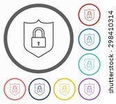 shield lock icon | Shutterstock .eps vector #298410314