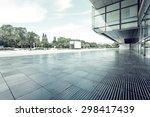modern building glass wall and...   Shutterstock . vector #298417439