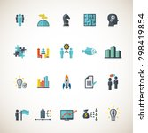 business training icon set | Shutterstock .eps vector #298419854