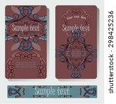 brown deep pattern for card  | Shutterstock .eps vector #298425236
