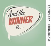 """and the winner is ..."" vintage ... 