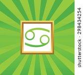 image of cancer zodiac symbol...