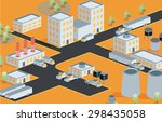 vector isometric view of the... | Shutterstock .eps vector #298435058