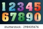 polygon number alphabet... | Shutterstock .eps vector #298435676