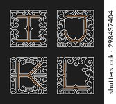 the set of monogram emblem... | Shutterstock .eps vector #298437404