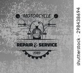 vintage motorcycle label on... | Shutterstock .eps vector #298438694