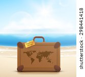 vector traveler's brown vintage ... | Shutterstock .eps vector #298441418