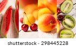 food collage from photos of... | Shutterstock . vector #298445228