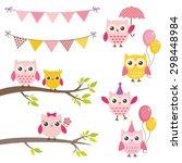 vector birthday party elements... | Shutterstock .eps vector #298448984