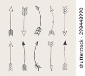 hand drawn vector arrows  | Shutterstock .eps vector #298448990