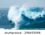 Powerful Ocean Waves Breaking...