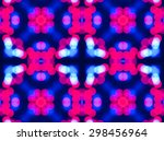 Blue Ethnic Pattern. Abstract...