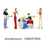 vector illustration of a four... | Shutterstock .eps vector #298457840