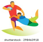 rugby. attack | Shutterstock .eps vector #298463918