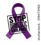 stop domestic violence stamp.... | Shutterstock .eps vector #298473983