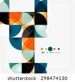 semicircle triangle pattern.... | Shutterstock .eps vector #298474130