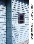 close up of blue wooden... | Shutterstock . vector #298478480