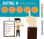 rating hand choosing star... | Shutterstock .eps vector #298479923