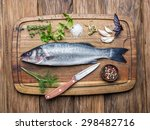 Fish   Seabass On A Wooden...
