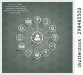 technology web icons set   Shutterstock .eps vector #298485503
