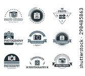 photography vintage retro icons ... | Shutterstock .eps vector #298485863