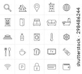hotel icons. rent out lodging... | Shutterstock .eps vector #298486244