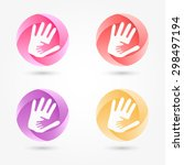 icon set abstract business logo.... | Shutterstock .eps vector #298497194