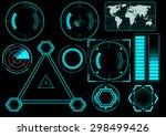 sci fi futuristic user... | Shutterstock .eps vector #298499426
