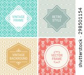 set of vintage frames in... | Shutterstock .eps vector #298501154