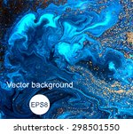 Marbled Blue Abstract Background