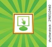 hand cursor on screen  in... | Shutterstock .eps vector #298510460