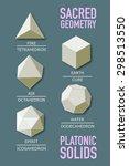 sacred geometry   platonic... | Shutterstock .eps vector #298513550