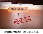 file folders with past due... | Shutterstock . vector #298518416