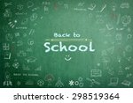 back to school announcement... | Shutterstock . vector #298519364