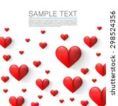 many flying hearts. simple... | Shutterstock .eps vector #298524356