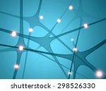 neurons  synapses brain... | Shutterstock . vector #298526330