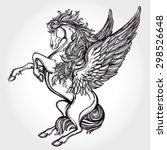 Hand Drawn Vintage Pegasus...