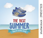 abstract summer vacation... | Shutterstock .eps vector #298527323