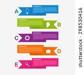 paper ribbon infographics... | Shutterstock .eps vector #298530416